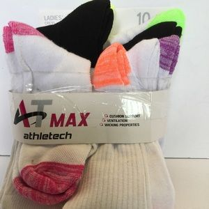 New Athletech ladies crew socks 10 pairs size 4-10